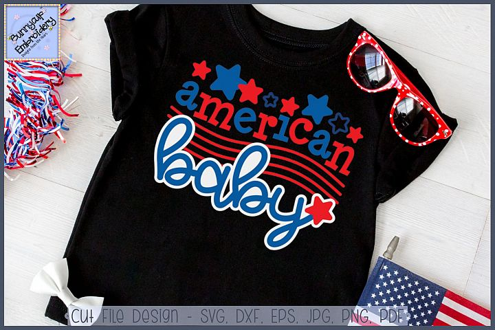 American Baby SVG Cut File and Clipart