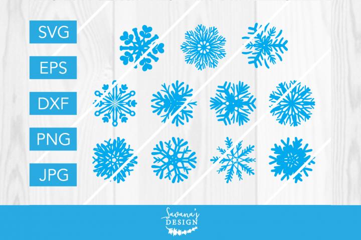 Snowflake SVG Bundle for Christmas and Winter Decor