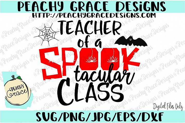 Teacher of Spooktacular Class SVG