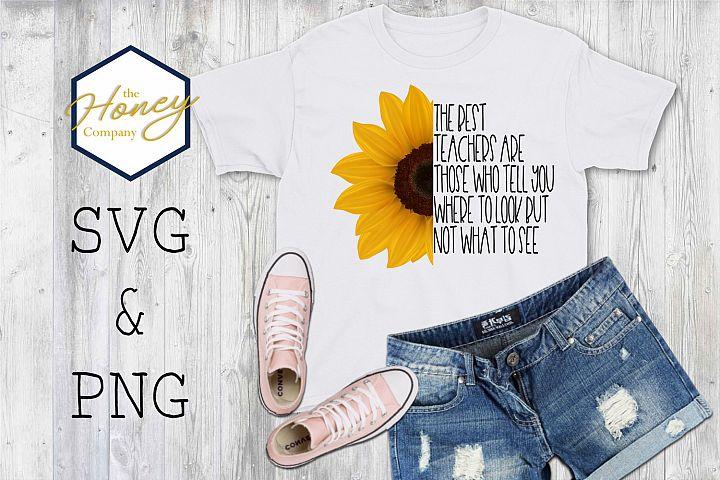 Teacher Sunflower Print and Cut Inspirational Positive Gift