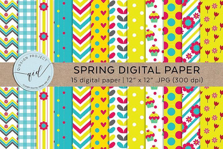 Spring Digital Pattern Paper JPG