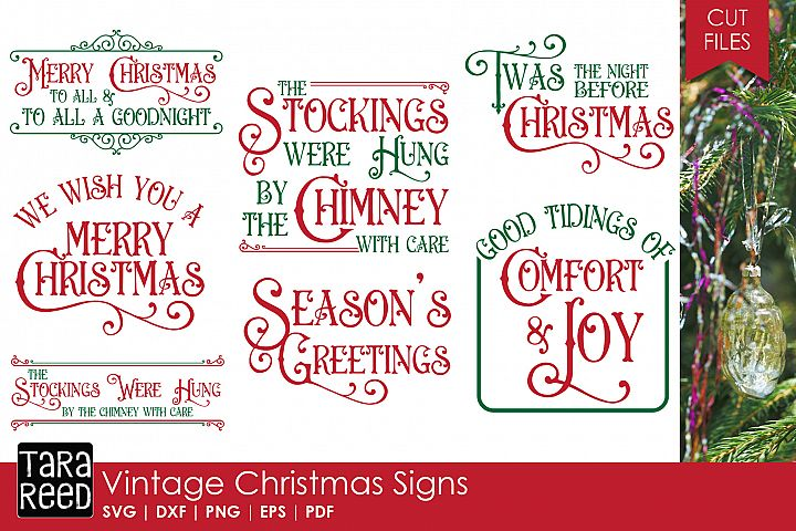 Vintage Christmas Signs - SVG & Cut Files for Crafters