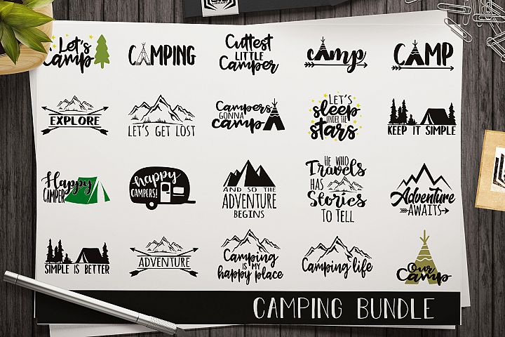Camping SVG bundle - Cut files - Adventure svg -Cricut files