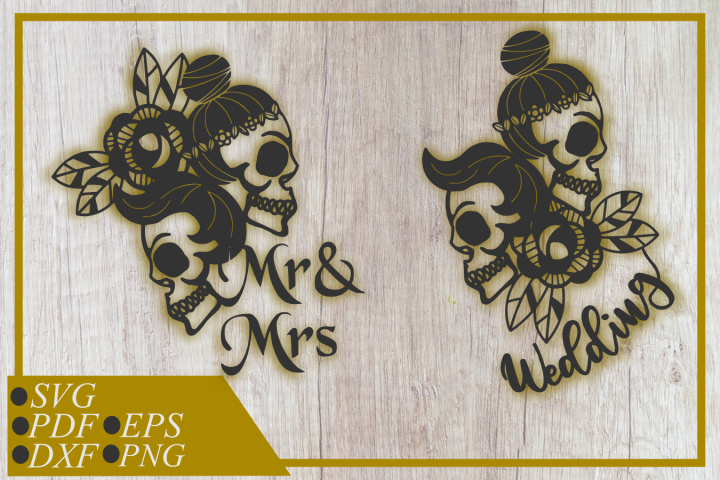 Mr & Mrs skull svg,Wedding skull svg , clip art, cut file