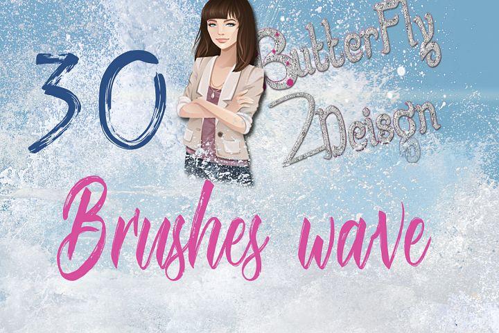 30 sea waves brushes