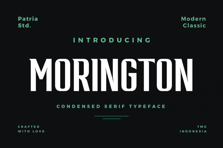 Morington Display Typeface