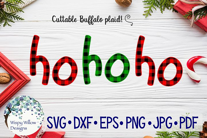 Ho Ho Ho| Buffalo Plaid Christmas SVG