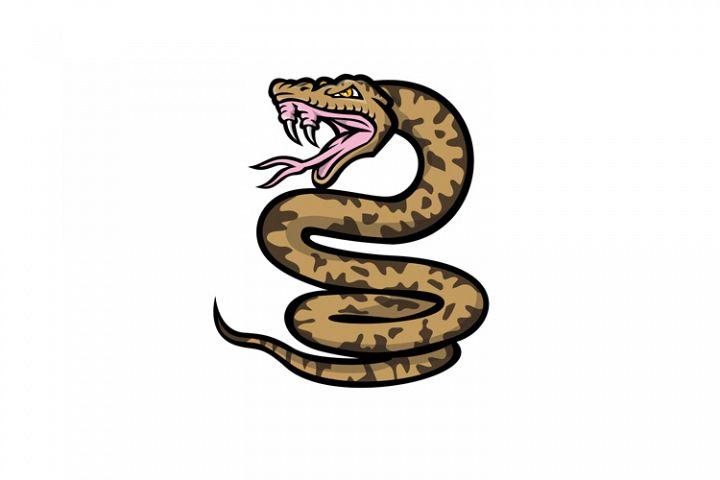 Aggressive Okinawa Habu Snake Mascot