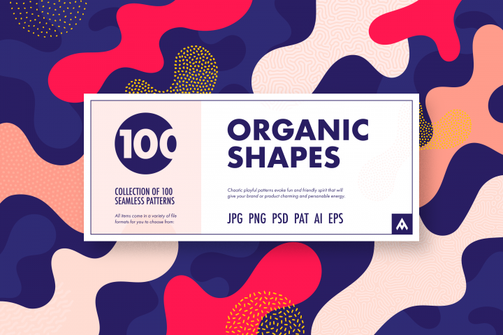 Organic Shapes 100 seamless textures collection