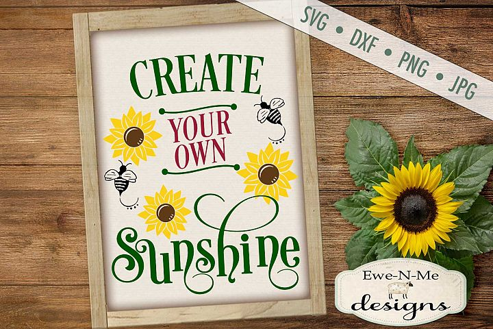 Create Your Own Sunshine Sunflower SVG DXF File