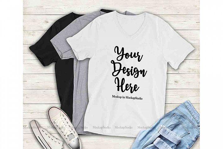 Multiple Color T-Shirts Mockup, Bella Canvas 3005 Shirt