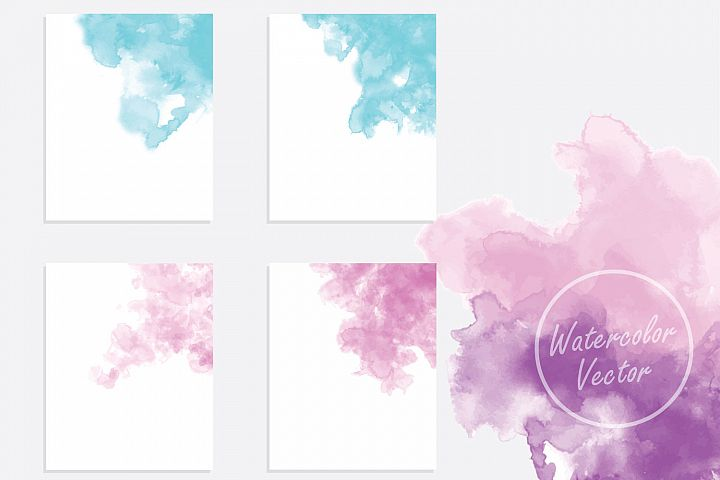 hand painted watercolor background vector
