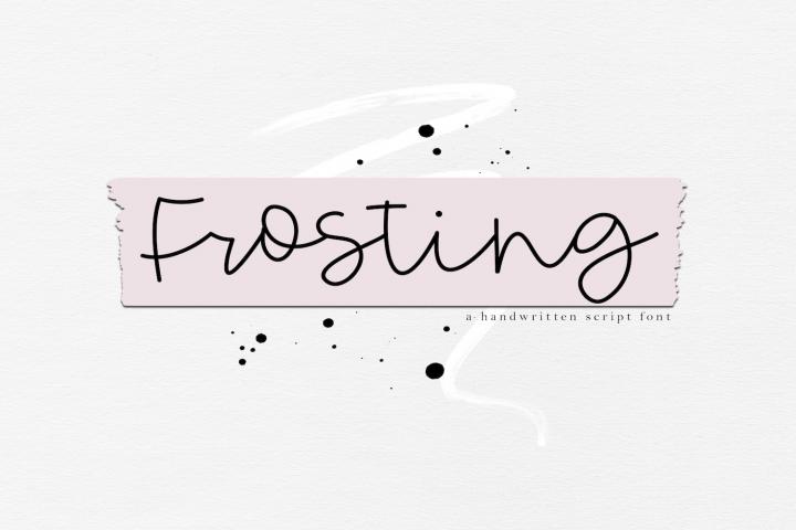 Frosting - Handwritten Script Font