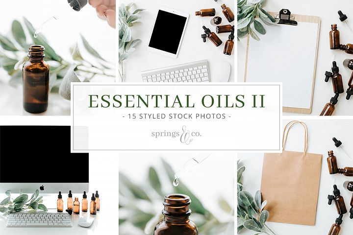 Essential Oils II Stock Photo Bundle