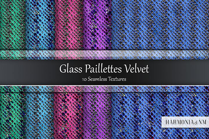 Glass Paillettes Velvet 10 Seamless Textures