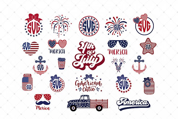 4th of July Mini Bundle SVG Cut Files