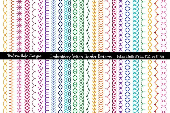Embroidered Border Patterns