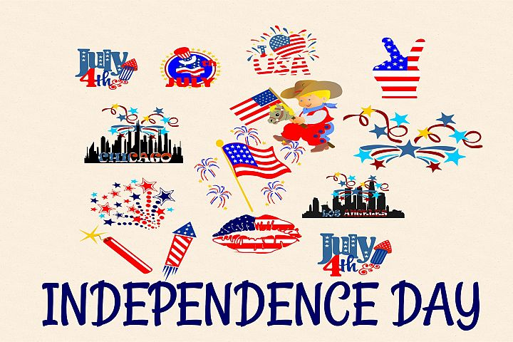 Independence Day SVG EPS, DXF, JPG, PNG