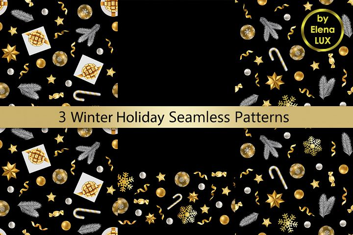 Winter Holiday Seamless Set