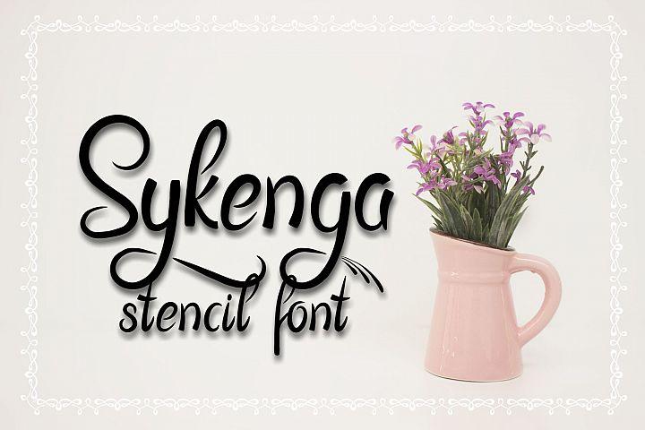 Sykenga Stencil Font