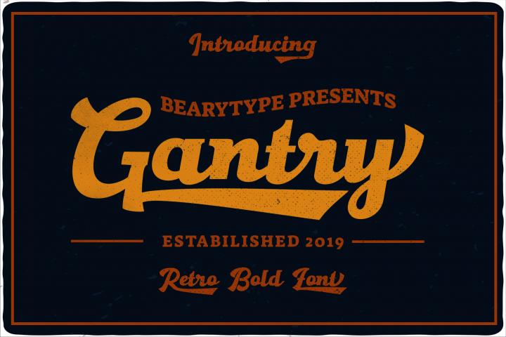Gantry - retro bold script font