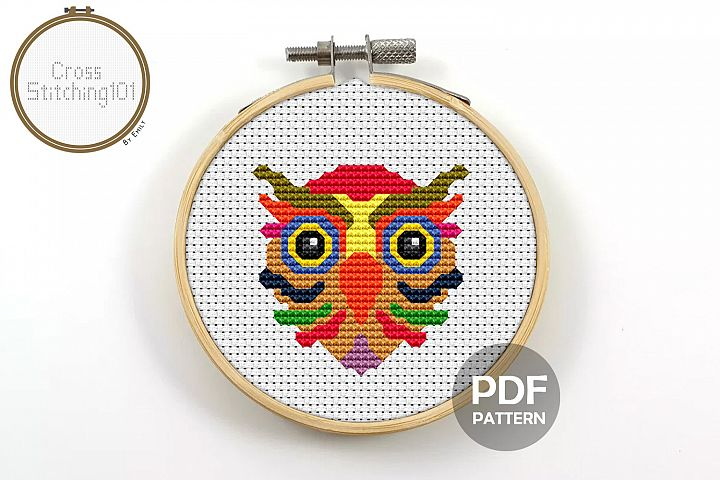 Owl Cross Stitch Pattern - Instant Download PDF