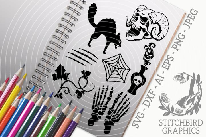 Halloween Silhouettes 1 Bundle SVG, Silhouette Studio