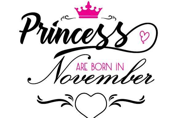 Princess are born in November  Svg,Dxf,Png,Jpg,Eps vector file