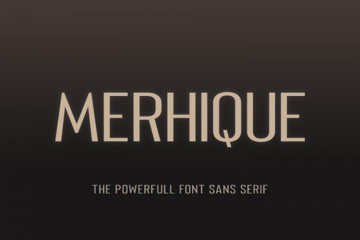 Merhique Sans Serif Family