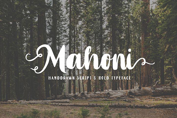 Mahoni - Script & Bold font