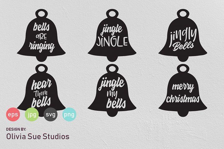 Christmas Bells Mandala SVG Cut File
