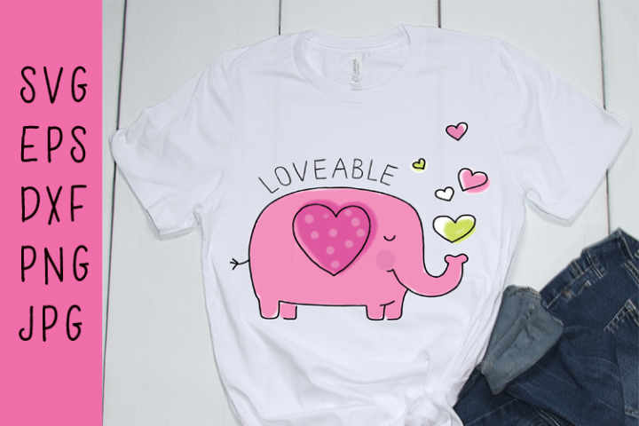 Loveable Elephant SVG
