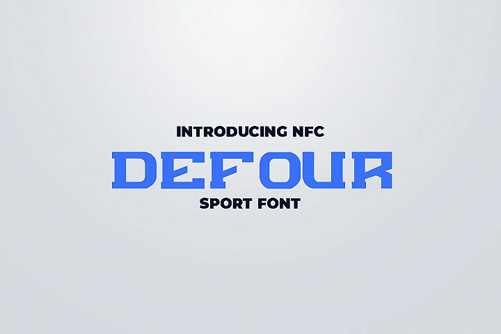 DEFOUR Sport Display Font