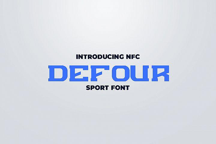 DEFOUR Sport Display Font