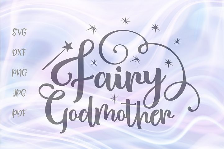 Fairy Godmother SVg for Cricut Baptism Vector Cut File DXF