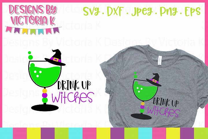 Drink up Witches, SVG, DXF, EPS - Free Design of The Week