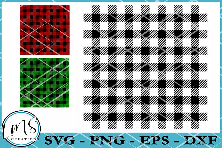 Buffalo Plaid Pattern SVG, PNG, EPS, DXF