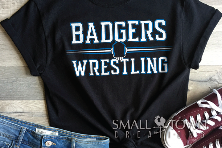 Badger, Wrestling, Sports, Team, Design, PRINT, CUT, DESIGN