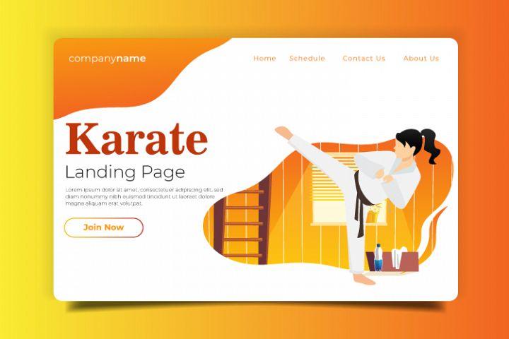 Karate - Landing Page Illustration