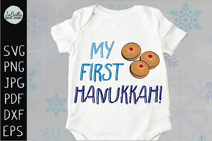 My First Hanukkah SVG, Printable and Sublimation PNG