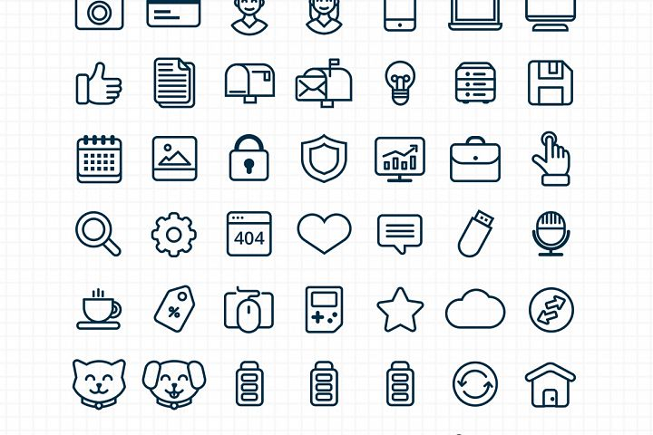 Customizable Outline Icons Set - Free Design of The Week Design 4