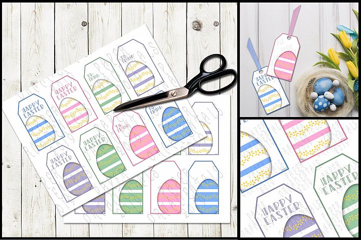 Printable Easter Gift Tags, Pastel Easter Eggs
