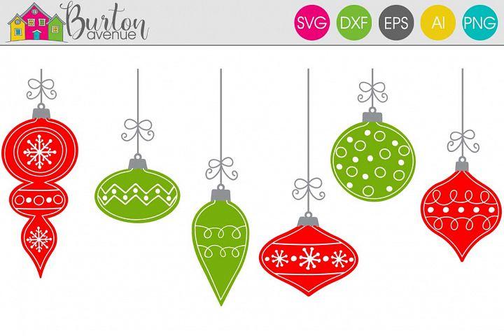 Hand Drawn Ornaments Christmas SVG File