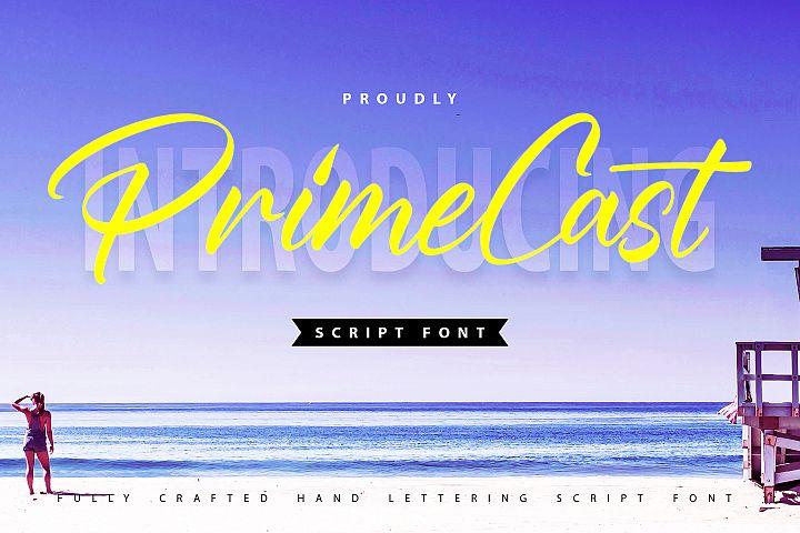 PrimeCast | Handlettering Script Font