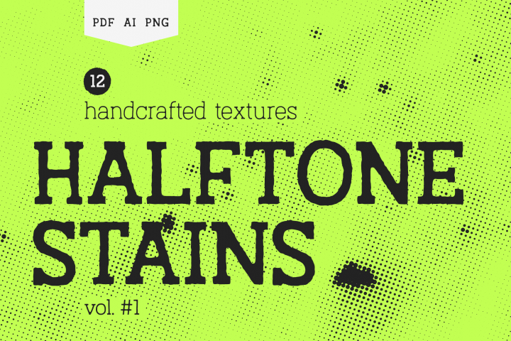 Halftone Stains Vol.#1 Texture Pack