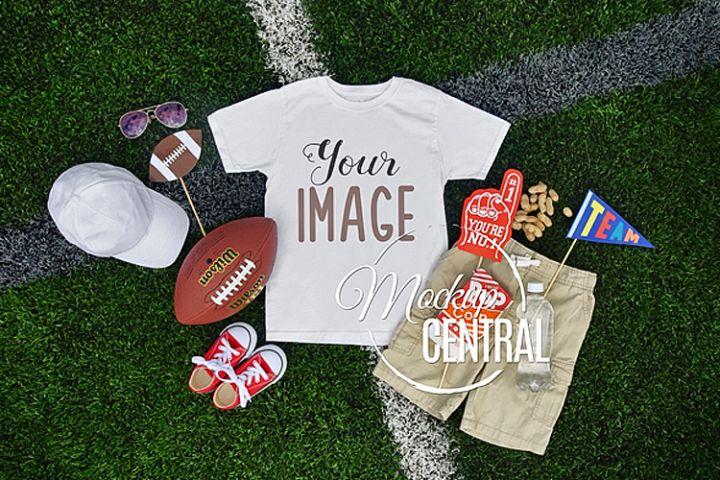 Blank Child Youth Sports T-Shirt Mockup Clothing Shirt, JPG