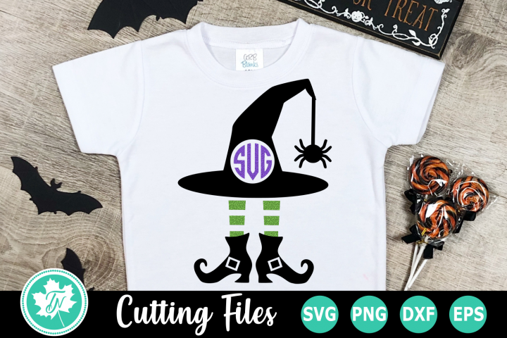 Witch Monogram - A Halloween SVG Cut File