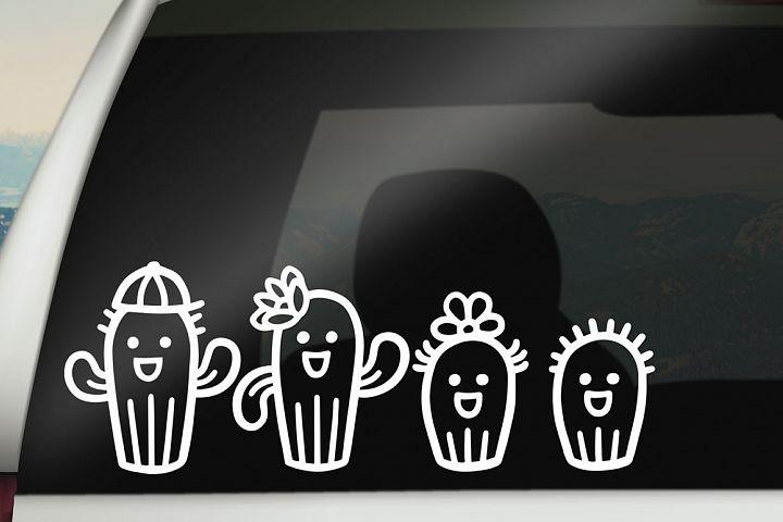 Cactus Family Cartoon Set! - Free Design of The Week Design 2