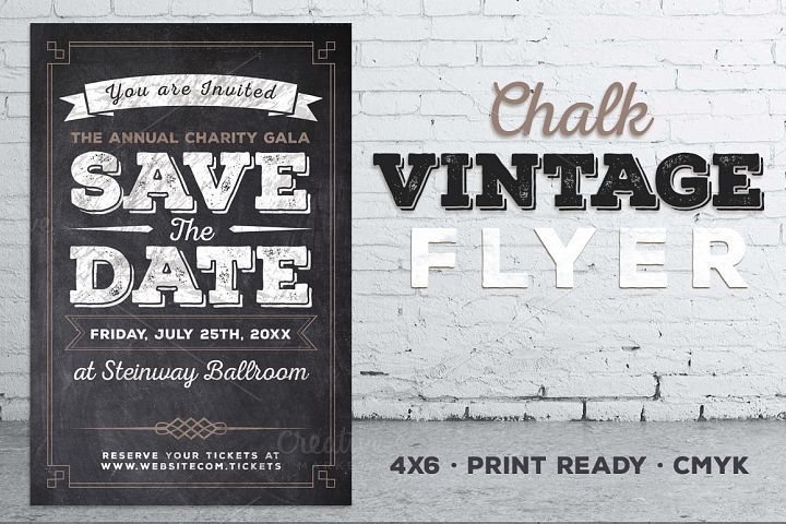 Vintage Chalk Flyer Invite