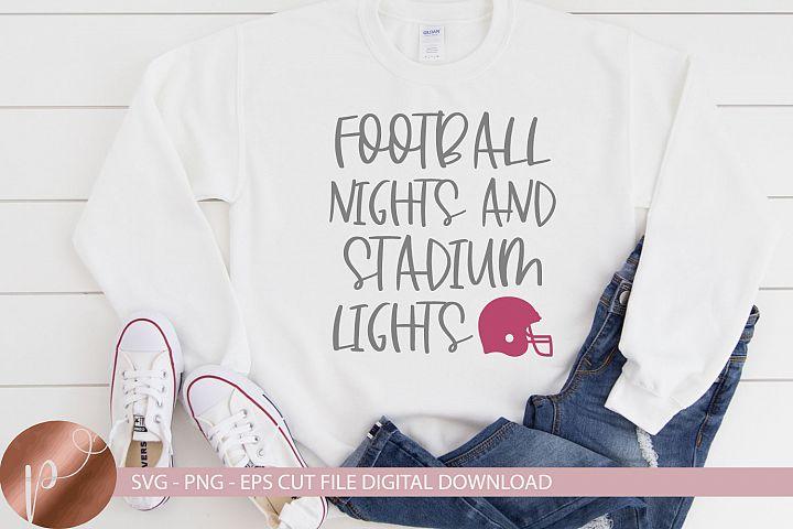 Football Nights Stadium Lights Svg, Football Shirt Design